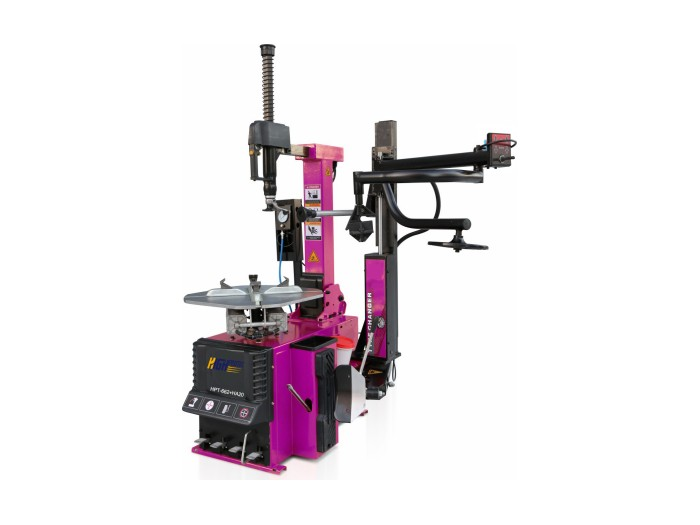Automatic tilting tire changer with right helper arm HPT-662+H20