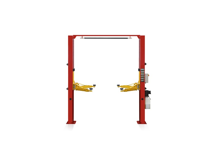Gantry two post lift S4DE with electric lock release and control box